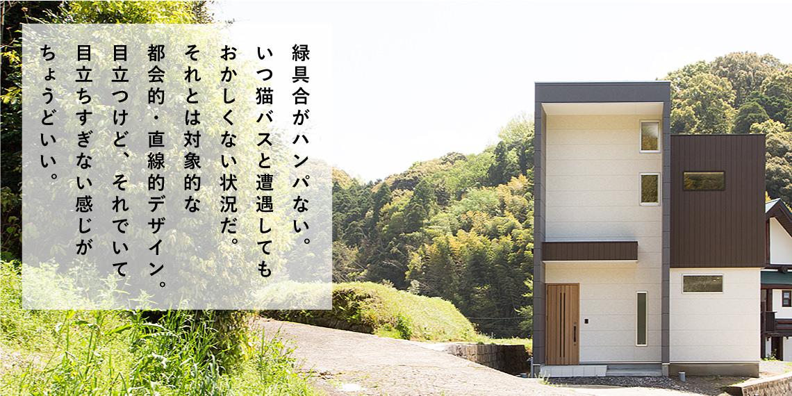 注文住宅 自然の中の箱型ハウス