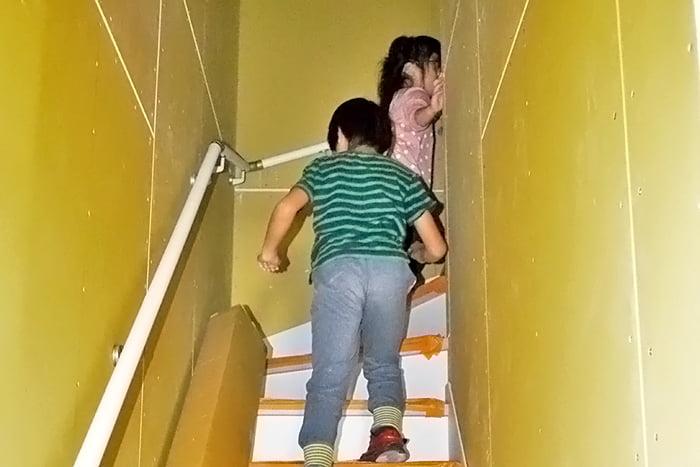 2階にお邪魔します